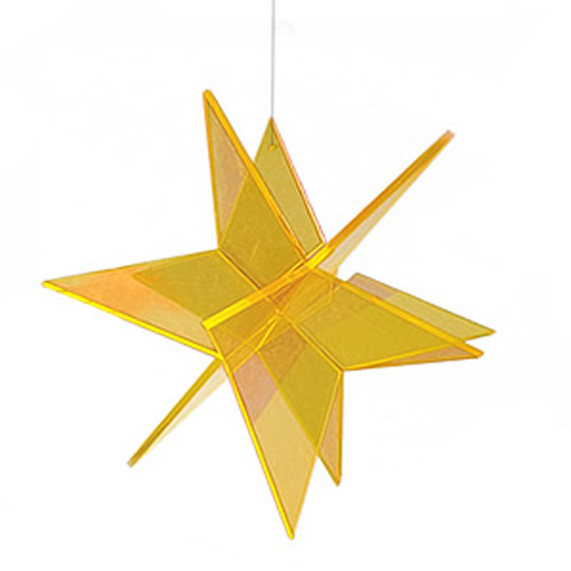 6-inch Cazador-del-sol 3-D Star Suncatcher Hanging Red sun catcher glows in dark