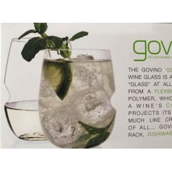 Picture of govino 12 ounce wine glass with contents