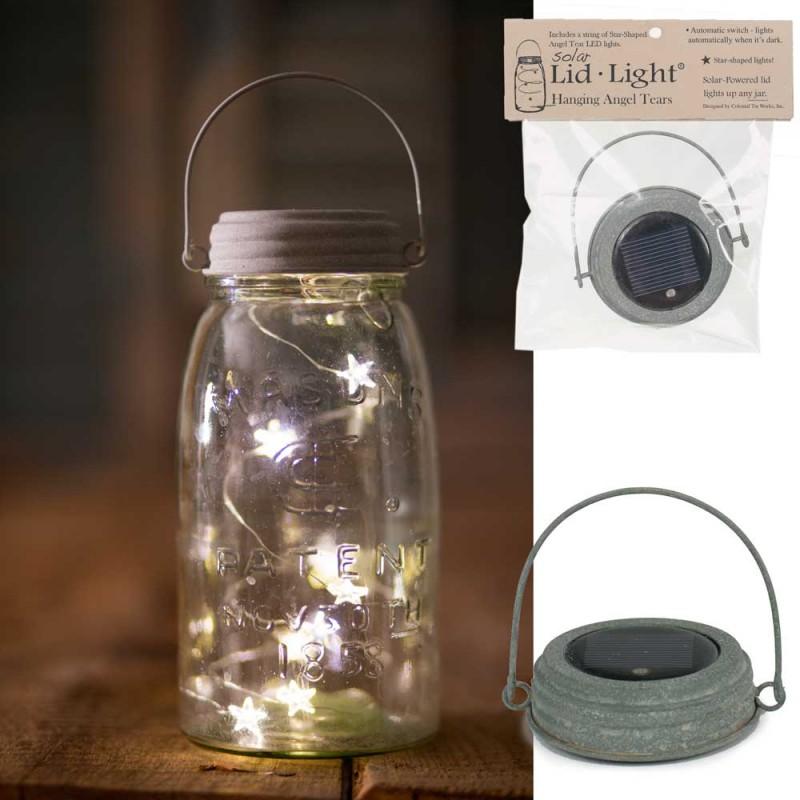 Picture of Star angel lights inside Mason Jar