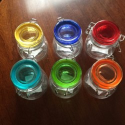Picture of six jars showing all  available colors