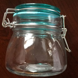 Picture of aqua top jar