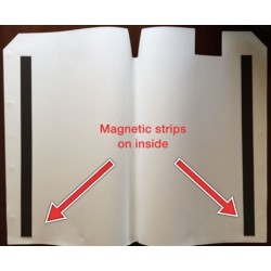 Picture of inside mailwrap showing magnetic strips