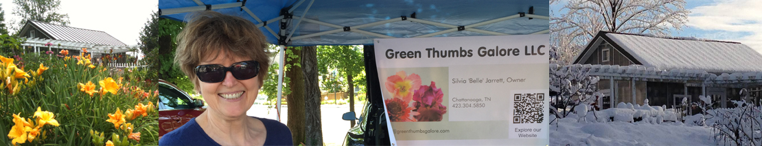 Picture of our Greenhouse and Farmers Market Booth